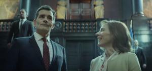 Koen De Bouw, Saskia Reeves in De Premier (2016)