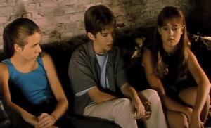 Joren Seldeslachts, Saskia Aelen, Melissa Gorduyn in Blinker (1999)