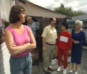 Dirk Bosschaert, Anne Somers, Annemie Gils, Ynte Gilis, Annie Geeraerts in Kiekeboe : Het witte bloed (1992)