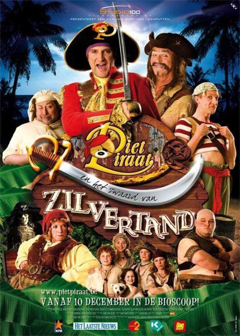 Poster Piet Piraat en het zwaard van Zilvertand