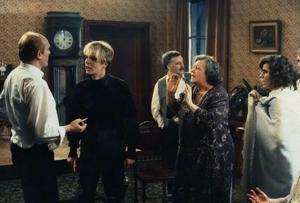 Frank Aendenboom, Carl Ridders, Ann Petersen in Het sacrament (1989)
