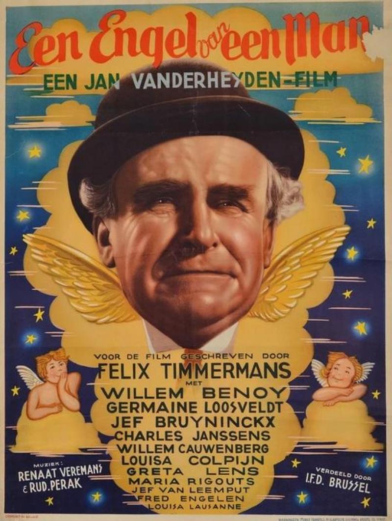 Poster Een engel van een man
