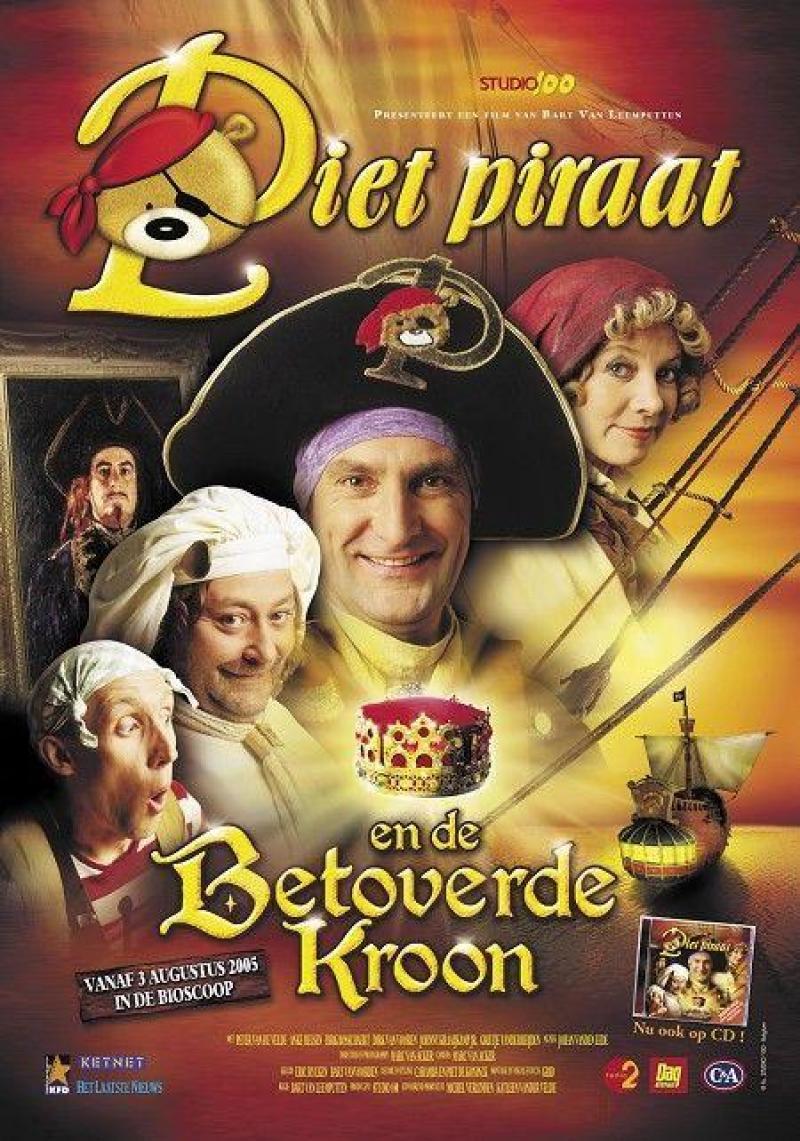 Poster Piet Piraat en de betoverde kroon