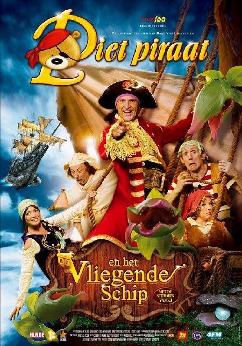 Poster Piet Piraat en het Vliegende Schip