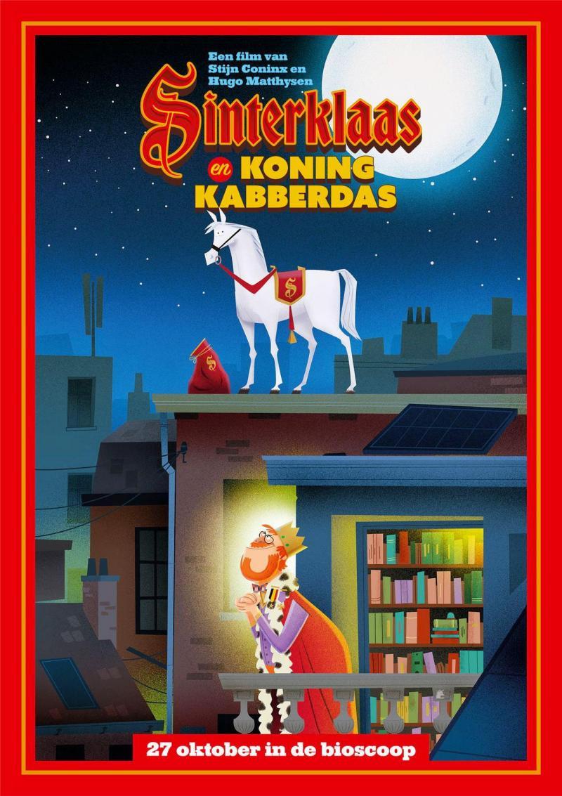 Poster Sinterklaas en Koning Kabberdas